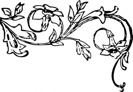 Spring Flowers Corner Piece Borders Stock Illustration