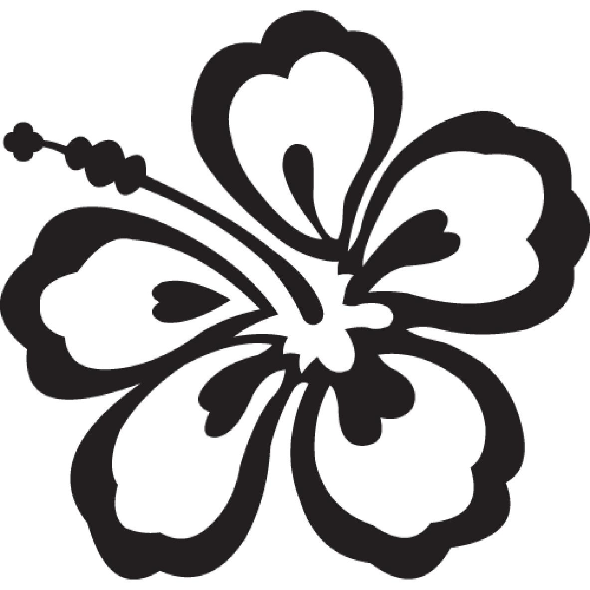 Hawaiian Flower Outline - Viewing Gallery
