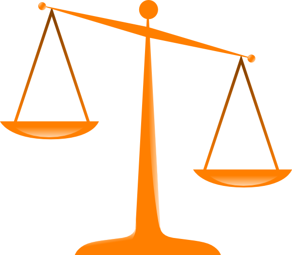 Scales Of Justice Uneven - ClipArt Best