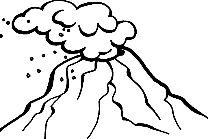 Line Drawing Volcano : Volcano outline clipart best