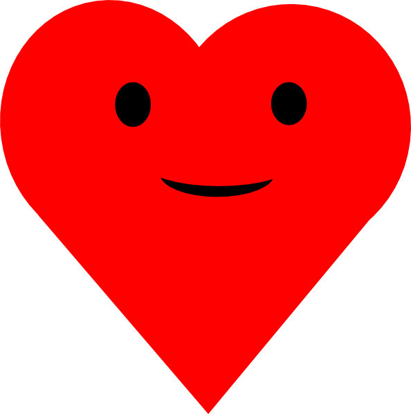 Smiling Heart Clipart - ClipArt Best