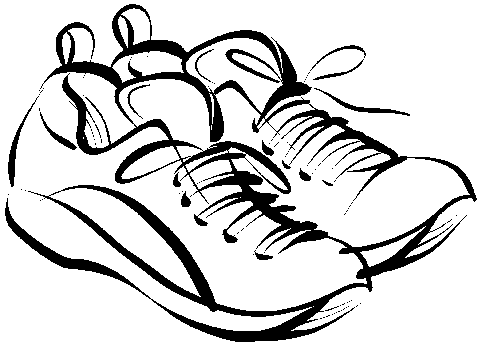 Running Shoes Drawing | Clipart Panda - Free Clipart Images
