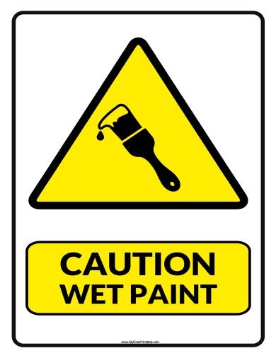 Wet Paint Clip Art Free