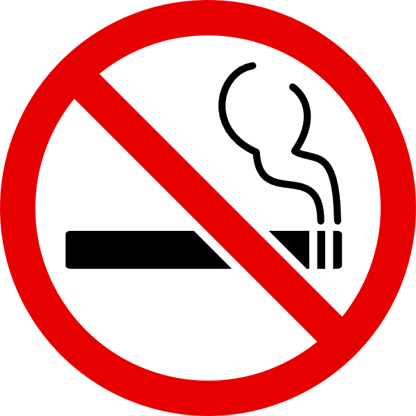 No smoking sign colouring clipart best for No smoking coloring pages