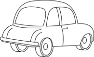 Free Black and White Cars Outline Clipart - Clip Art Pictures ...
