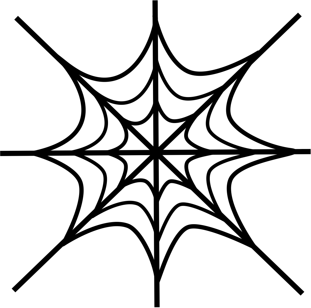 Spider in web drawing - photo#12