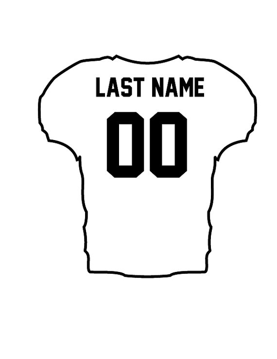 blank football jersey coloring page - outlines of football jersey clipart best