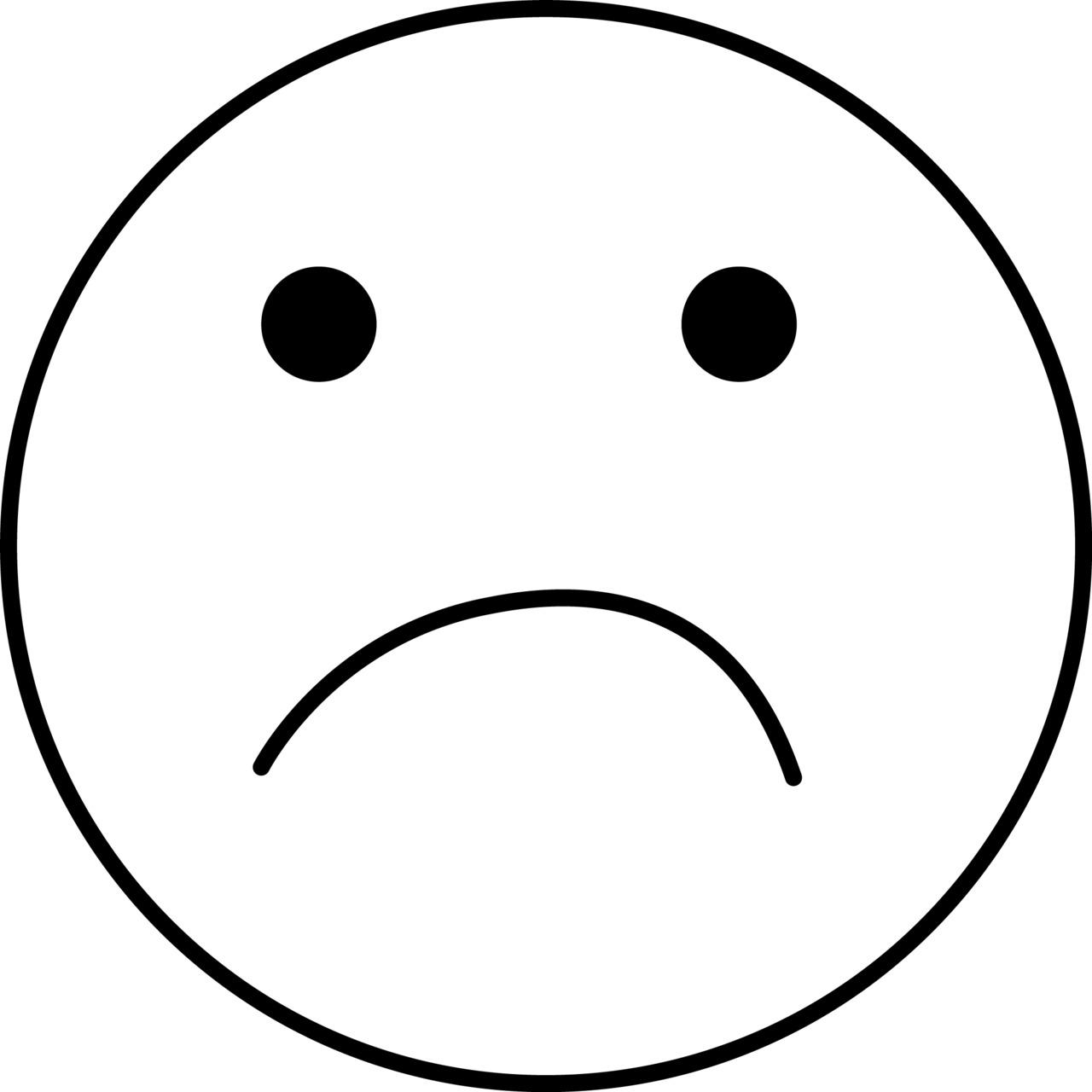Line Drawing Of Sad Face : Sad line face clipart best