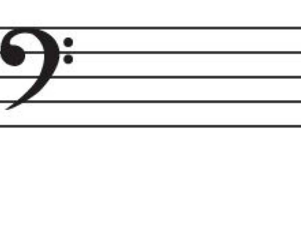blank bass clef staff - photo #14