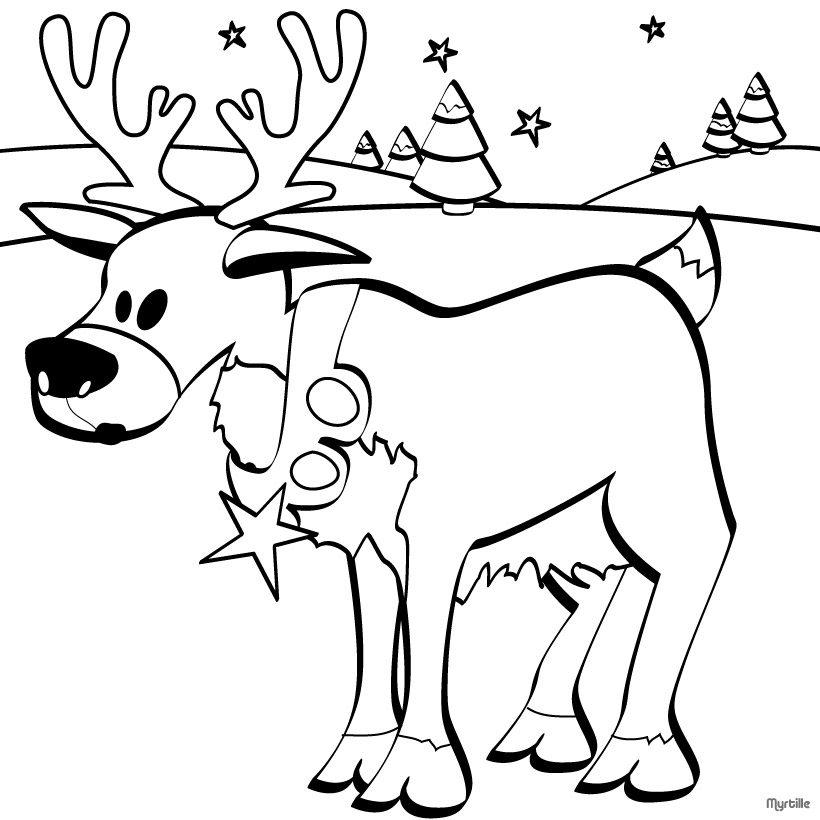 Coloring Pages You Can Color On The Computer : Christmas reindeer images clipart best
