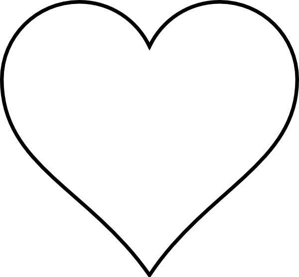 simple heart drawings clipart best