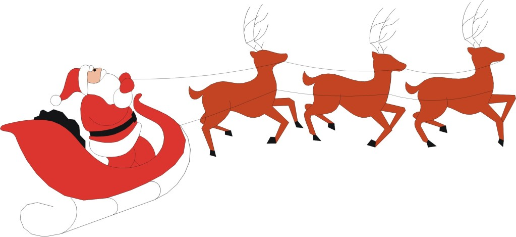 Pictures Of Santa And Reindeer - ClipArt Best