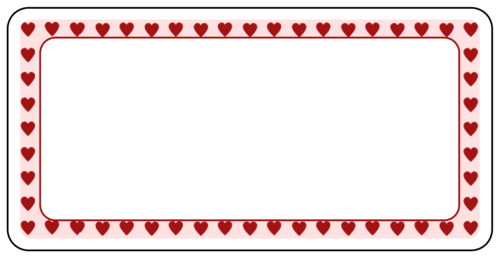 Valentine s Day Hearts Border Label - Label Templates    Valentines Day Candy Borders Free