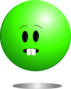 Sullen Clipart Image - Ball Shaped Character With Buck ...