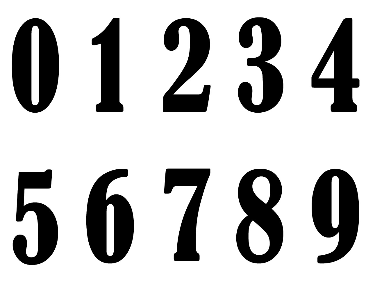 Old English Numbers