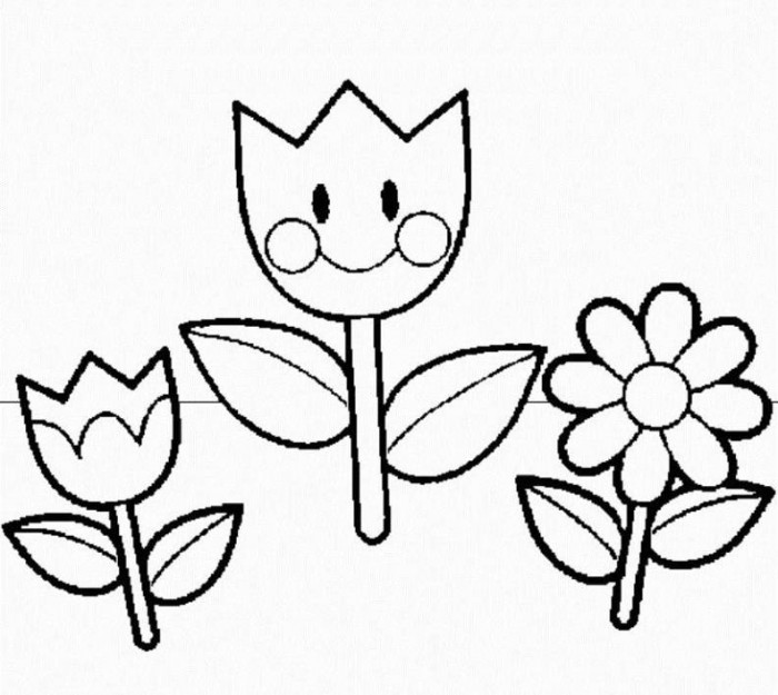 Spring Flower Drawings - ClipArt Best