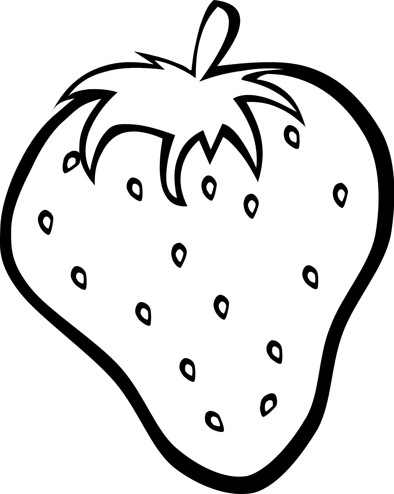 simple fruit ff menu 9 black white line art ... - ClipArt ...