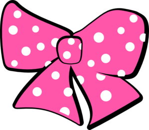 Minnie mouse pink bow clipart