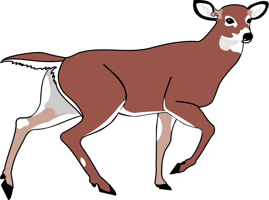 Deer clip art black and white free clipart images - Clipartix