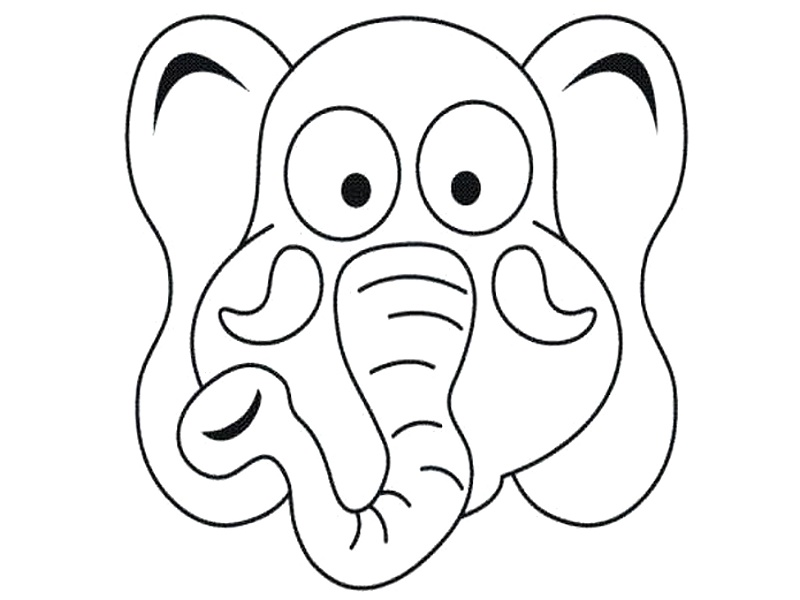 funny masks coloring pages - photo#12