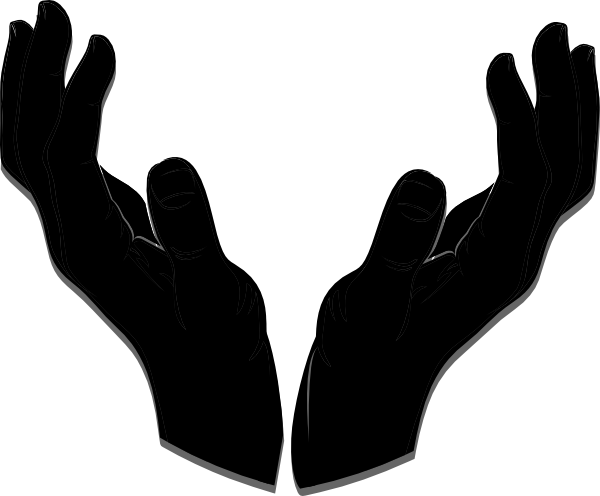 Clipart of open hands