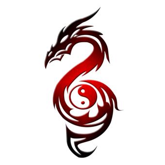 Yin Yang Dragon Tattoo Designs