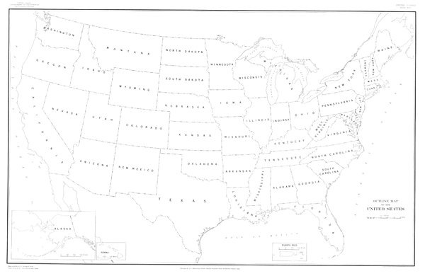 Outline Map Of The United States Of America - ClipArt Best