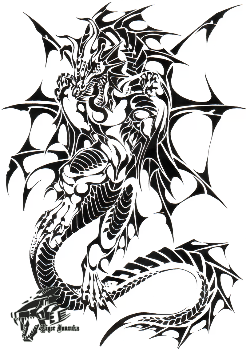 51 dragon tribal tattoos . Free cliparts that you can download to you ...