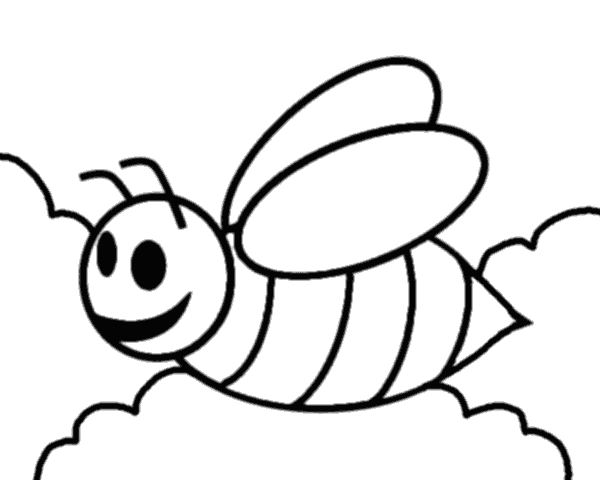 Bee Outlines - ClipArt Best