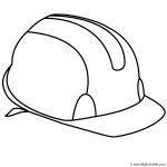 Construction hard hat coloring sheets coloring pages for Construction hat coloring page