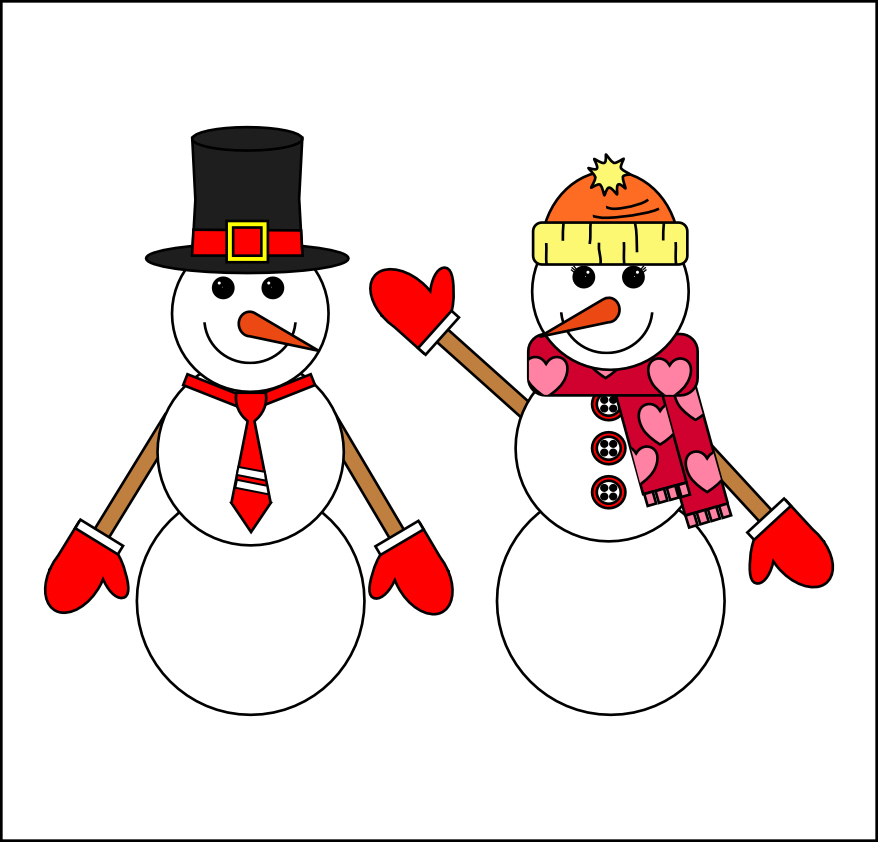snow woman clipart - photo #1