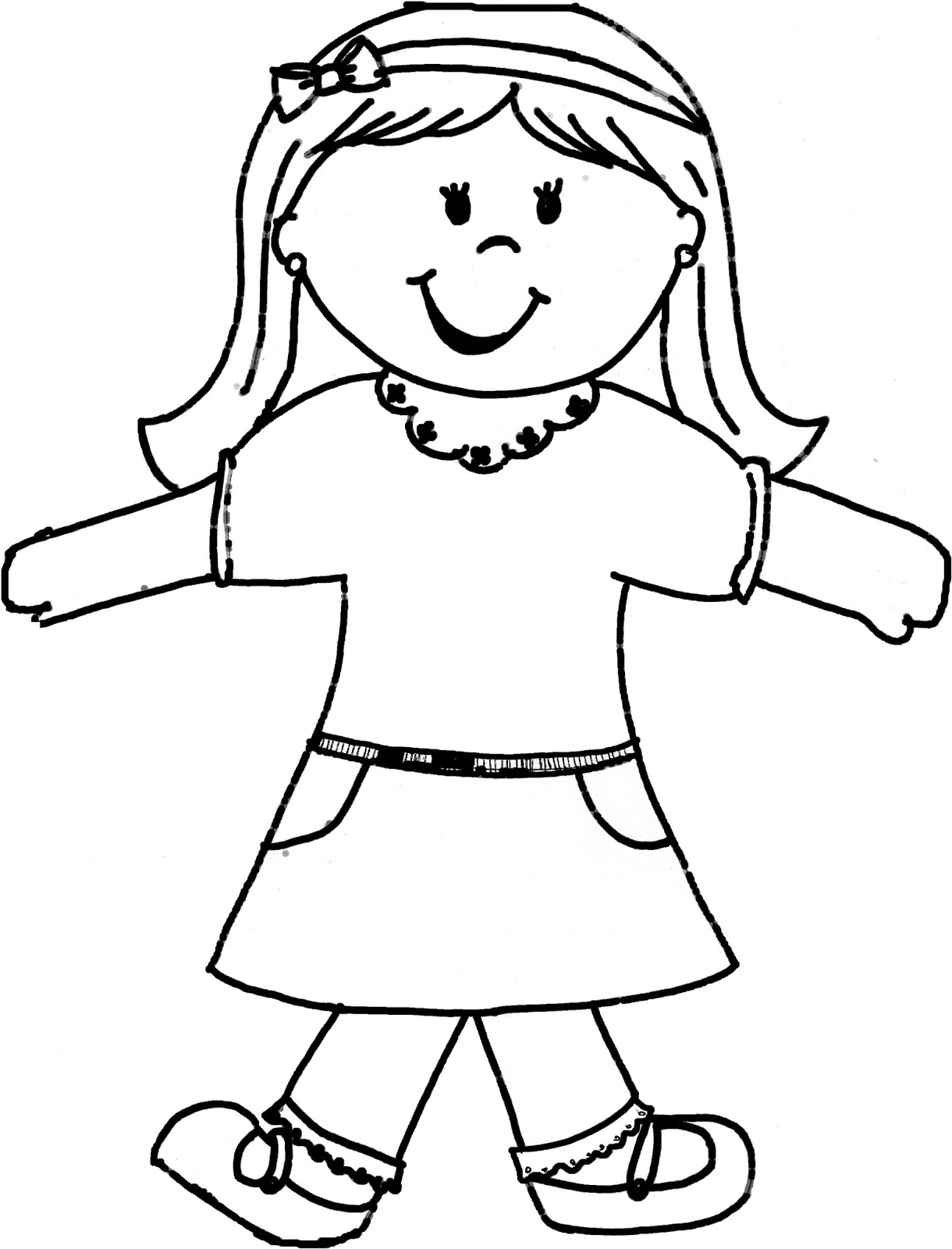 Free Coloring Pages Of Boy And Girl Template
