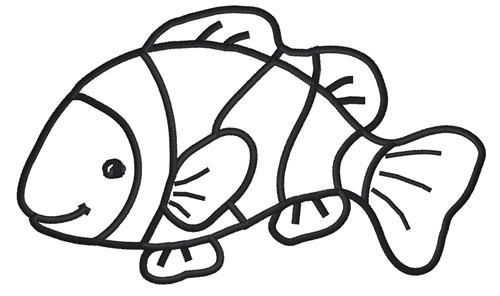 Clown Fish Outline Clipart Best Clown Fish Coloring Page