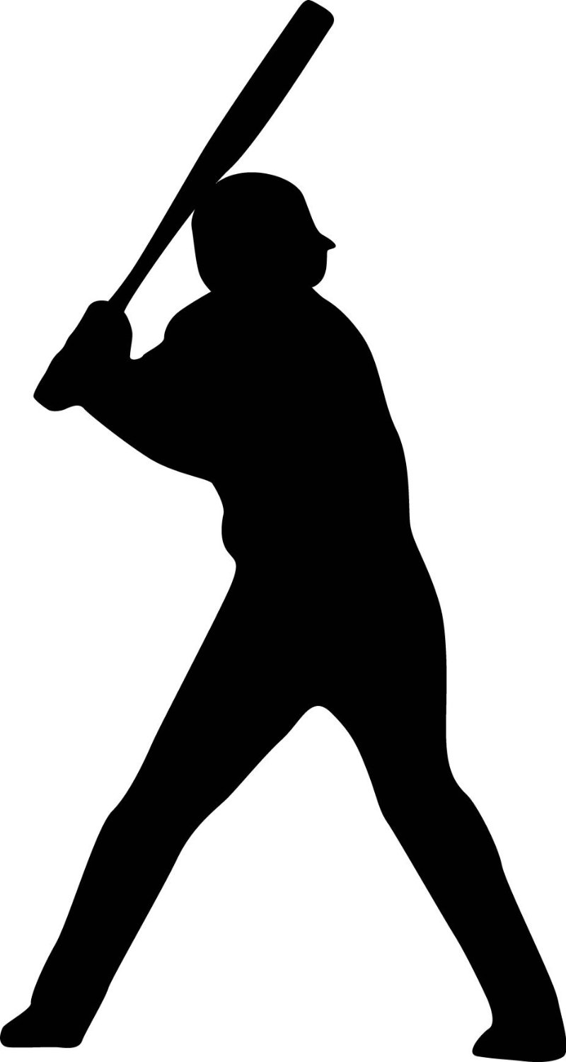 free clipart baseball player silhouette - photo #1