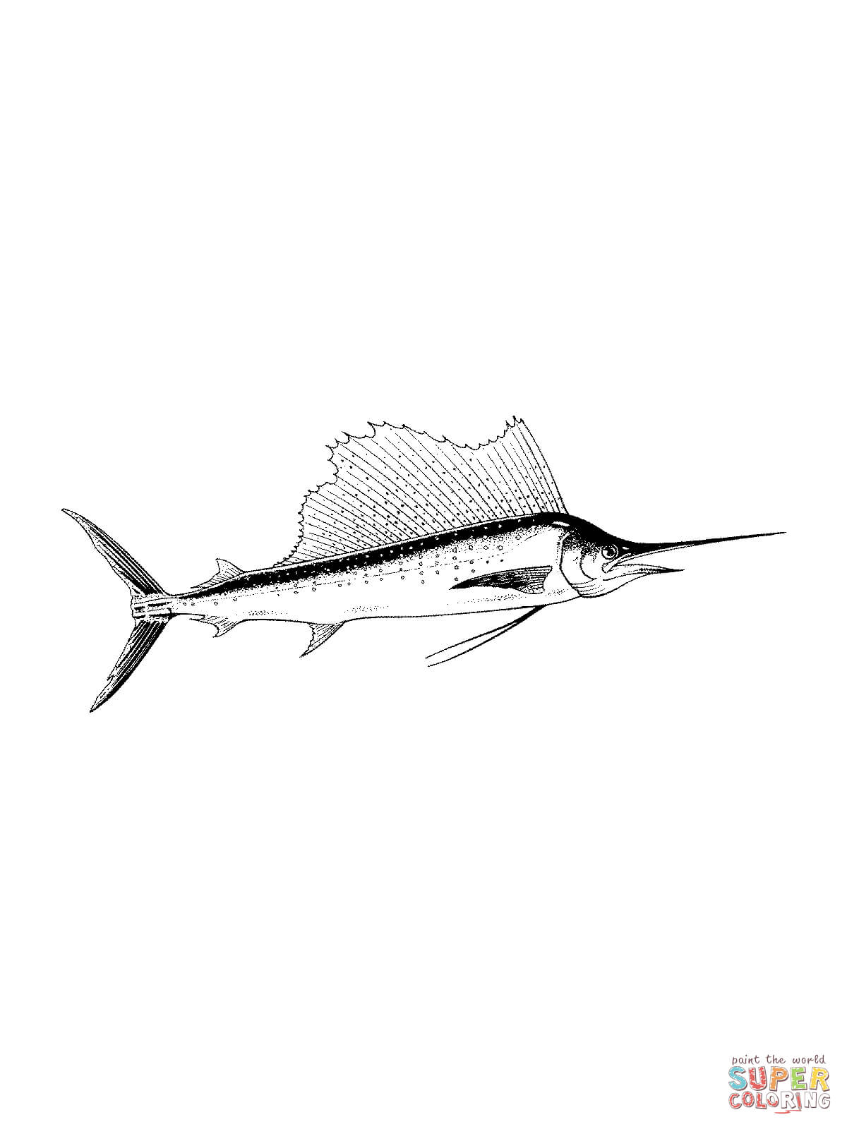 Black Marlin Drawing ClipArt