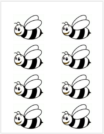 Gorgeous image with regard to printable bumble bee cutouts