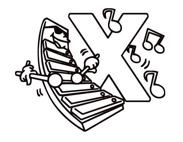 Xylophone Coloring Page - ClipArt Best