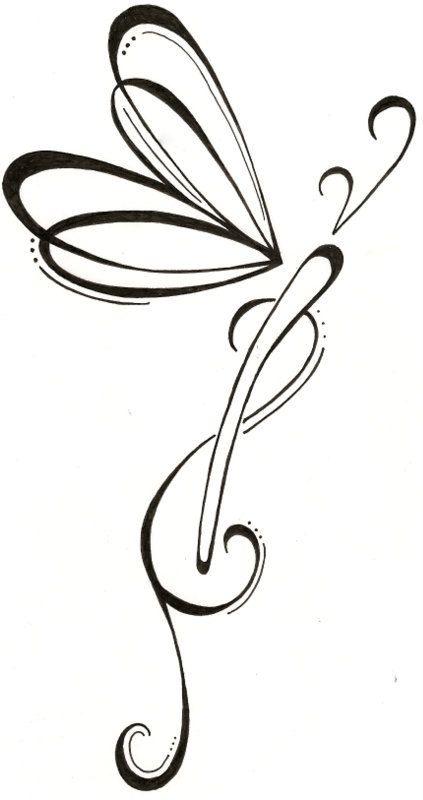 Line Drawing Dragonfly : Dragonfly line drawing clipart best