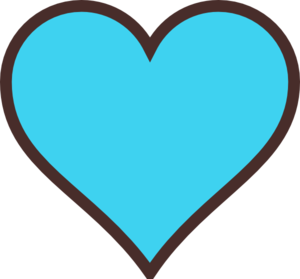 Light Blue Heart - ClipArt Best