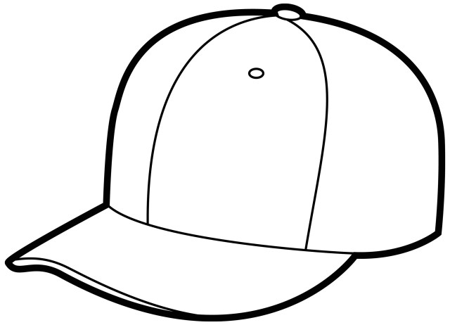 Line Drawing Hat : Outline of cap clipart best