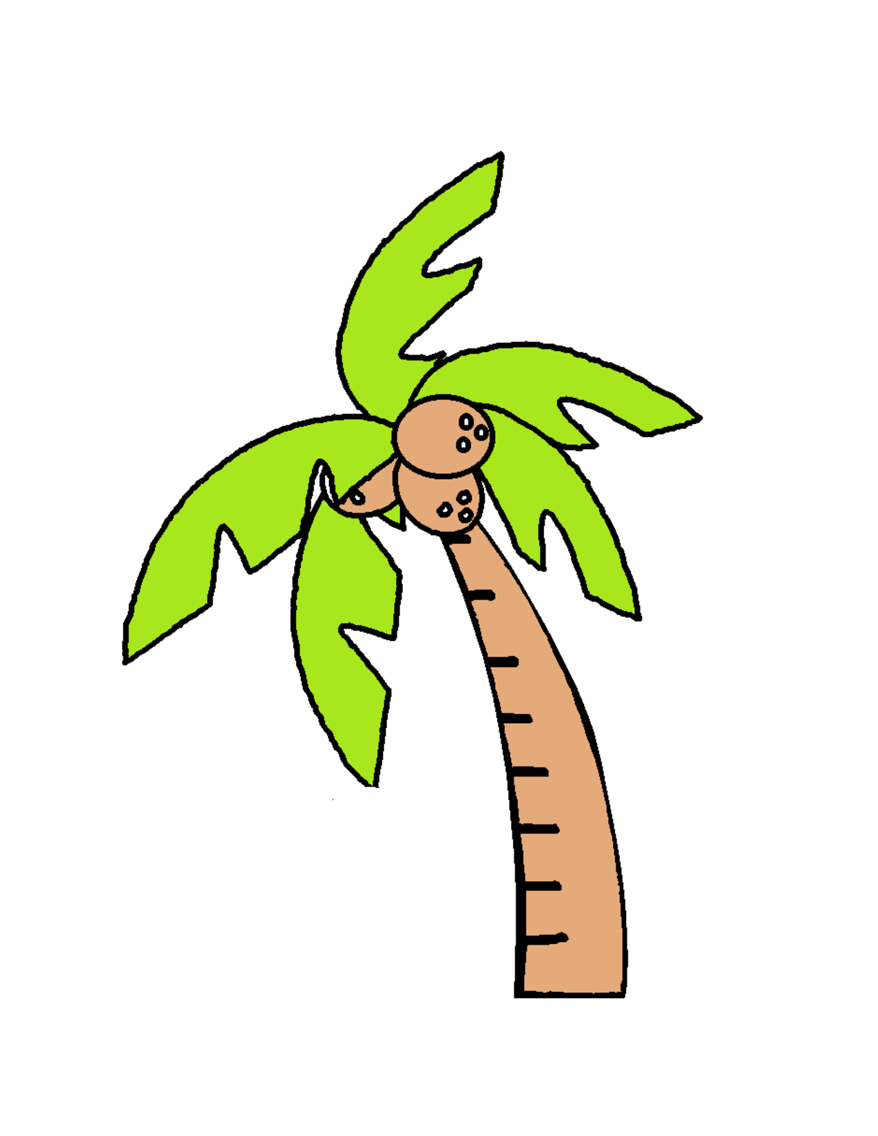 Coconut Tree Template - ClipArt Best