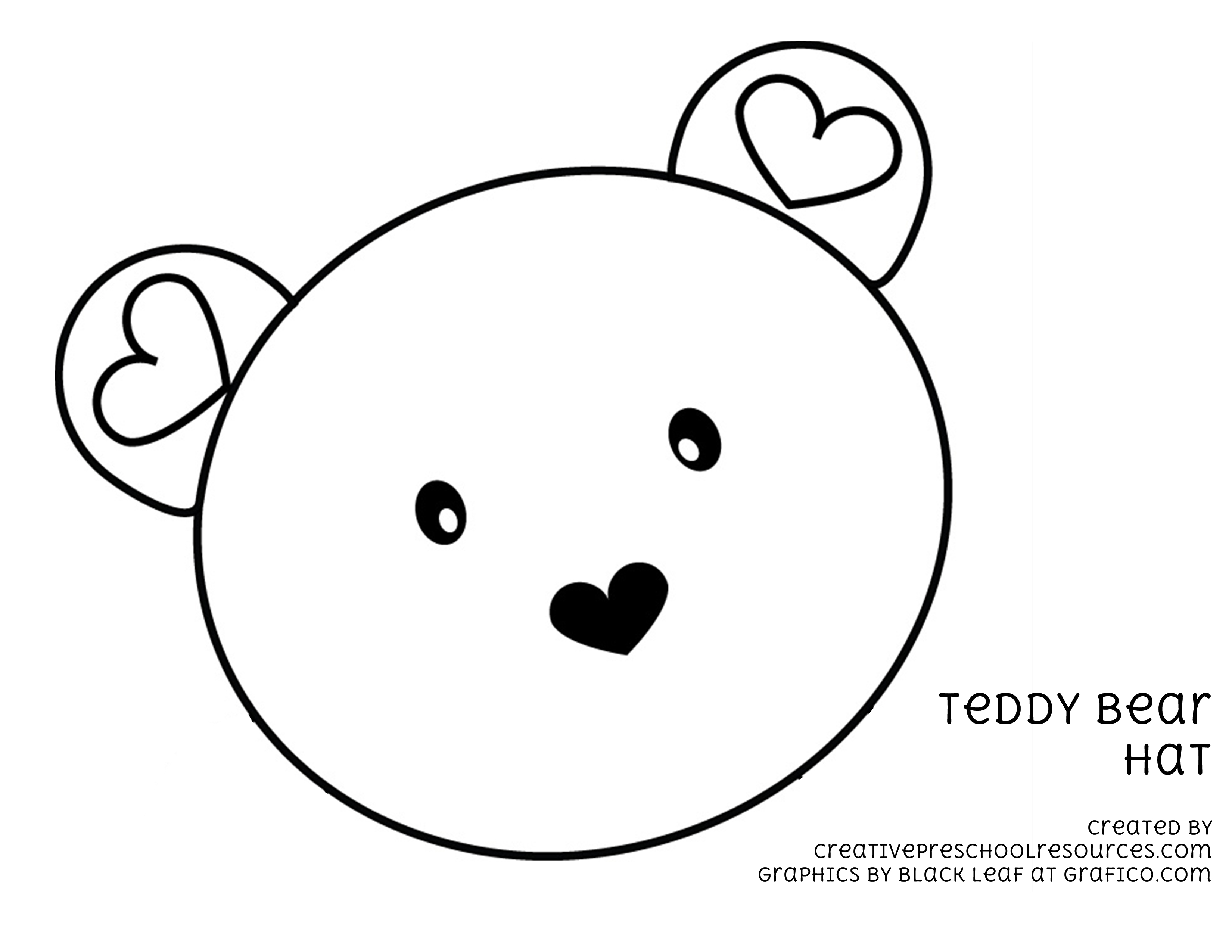 teddy bear face coloring pages - photo#34