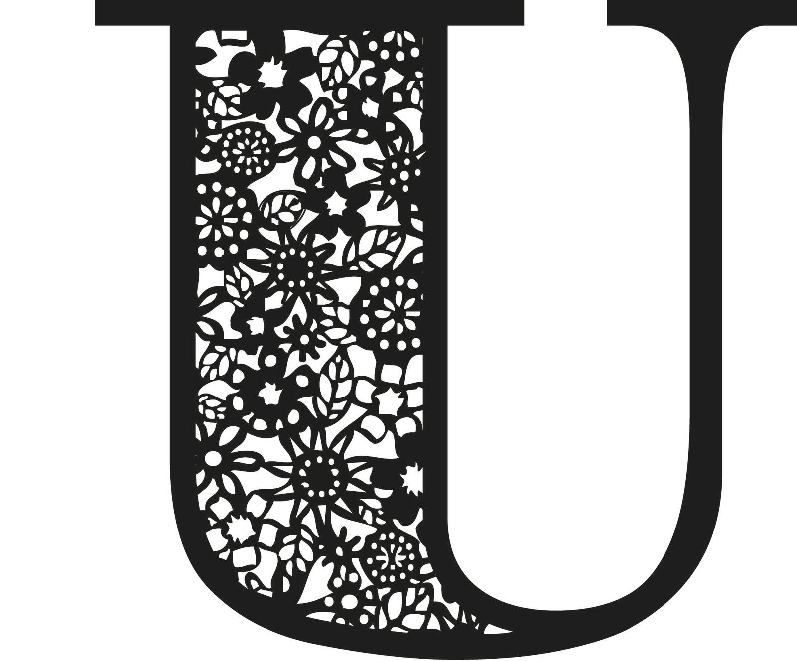 u alphabet design - photo #20