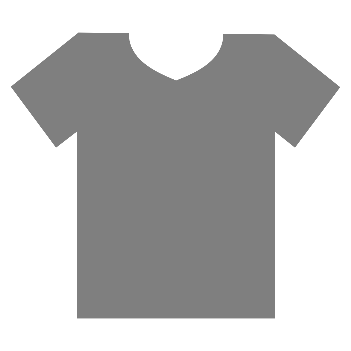 t shirt shape clipart - photo #10