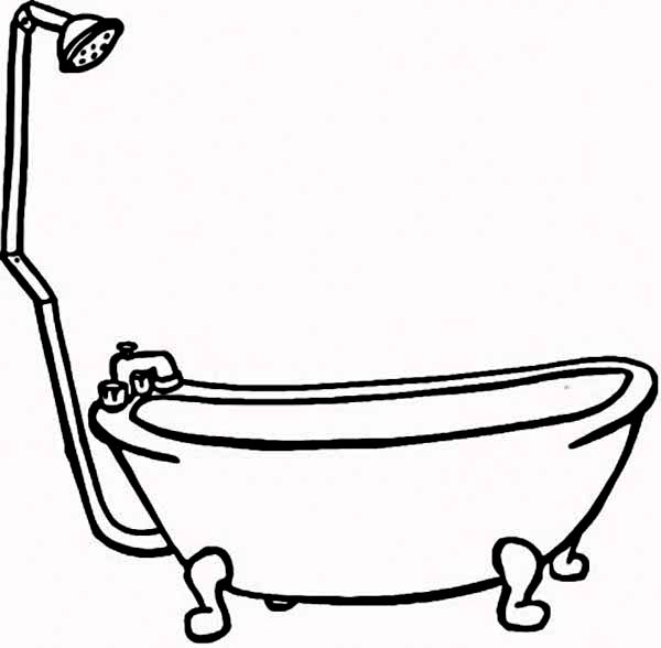 Line Art Bathroom : Bath line drawing clipart best