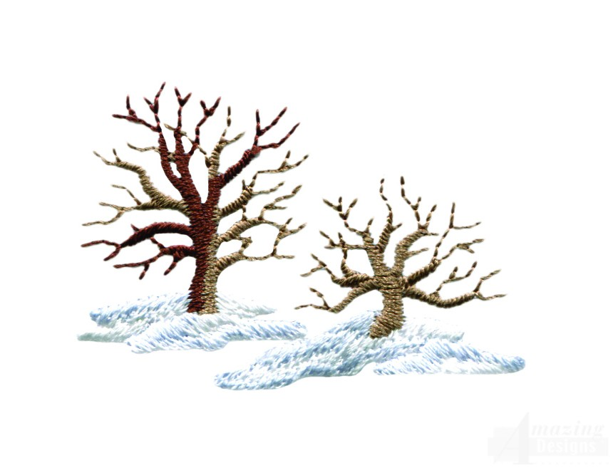 Winter Trees Embroidery Design Clipart Best Clipart Best