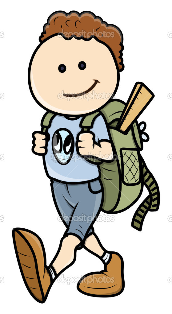 Going To School Cartoon Clipart - Clipart Kid