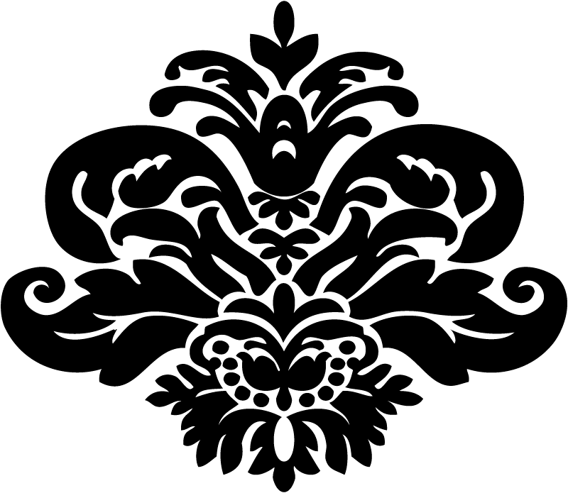 Stencil Damask Pattern - ClipArt Best