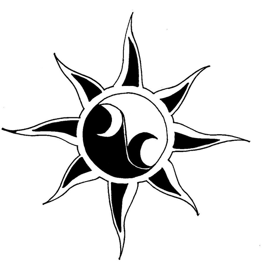 Sun Moon Drawings Star Drawings For Tattoos