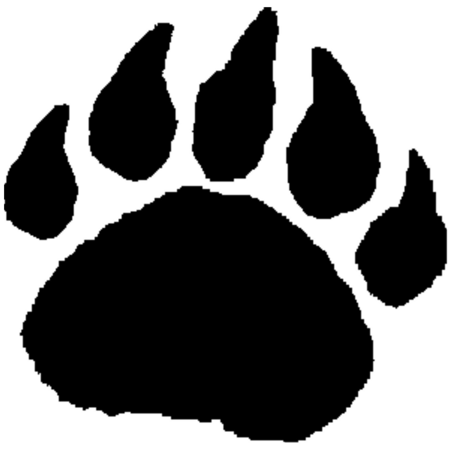 black panther paw print clipart best